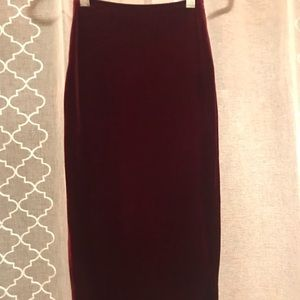 American Apparel Skirts - American apparel velvet midi skirt